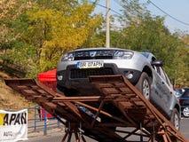 Τεστ δοκιμής του ξεσκονόπανου Dacia Στοκ Εικόνες