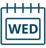 Τετάρτη, διανυσματικό εικονίδιο ημέρας γεγονότος Τετάρτης ειδικό που μπορεί να τροποποιηθεί εύκολα ή να εκδώσει ελεύθερη απεικόνιση δικαιώματος