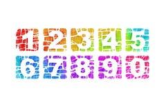 τετράγωνα αριθμών Στοκ φωτογραφία με δικαίωμα ελεύθερης χρήσης
