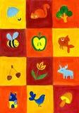 τετράγωνα εικόνων Στοκ εικόνες με δικαίωμα ελεύθερης χρήσης