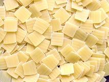 τετράγωνα ζυμαρικών ανασ&kap Στοκ Φωτογραφία