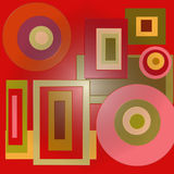 τετράγωνα κύκλων στοκ φωτογραφία με δικαίωμα ελεύθερης χρήσης