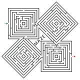 τετράγωνα λαβυρίνθου Στοκ φωτογραφία με δικαίωμα ελεύθερης χρήσης