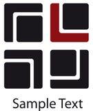 τετράγωνα λογότυπων Στοκ φωτογραφίες με δικαίωμα ελεύθερης χρήσης