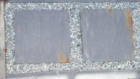 τετράγωνα πλακών στο αμμοχάλικο στο ιαπωνικό ύφος στοκ εικόνες