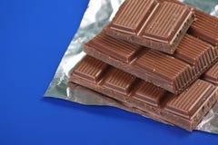 τετράγωνα σοκολάτας στοκ φωτογραφία