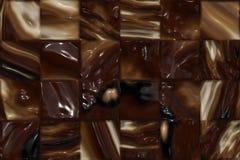τετράγωνα σοκολάτας Στοκ Εικόνες