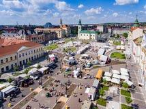 Τετράγωνο ένωσης Oradea, Bihor, Ρουμανία στοκ φωτογραφία με δικαίωμα ελεύθερης χρήσης