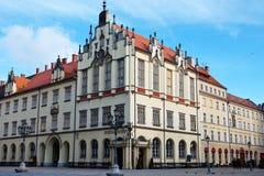Τετράγωνο αγοράς και το Δημαρχείο σε Wroclaw, Πολωνία Στοκ Εικόνα