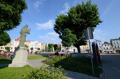 Τετράγωνο αγοράς σε Bytow Πολωνία Στοκ Εικόνες