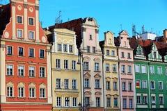 Τετράγωνο αγοράς σε Wroclaw, Πολωνία Στοκ Εικόνες