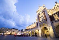 Τετράγωνο αγοράς στην Κρακοβία, Πολωνία στοκ εικόνες
