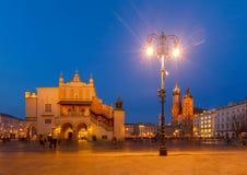 Τετράγωνο αγοράς στην Κρακοβία, Πολωνία στοκ εικόνα με δικαίωμα ελεύθερης χρήσης
