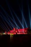 Τετράγωνο αγοράς στην Κρακοβία τη νύχτα Στοκ Φωτογραφίες