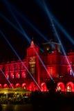 Τετράγωνο αγοράς στην Κρακοβία τη νύχτα Στοκ Εικόνα