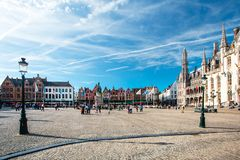 τετράγωνο αγοράς της Μπρ&upsilo στοκ φωτογραφία με δικαίωμα ελεύθερης χρήσης