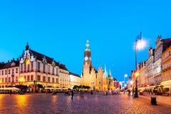 Τετράγωνο αγοράς Wroclaw, Πολωνία Στοκ εικόνα με δικαίωμα ελεύθερης χρήσης