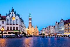 Τετράγωνο αγοράς Wroclaw, Πολωνία Στοκ Εικόνα