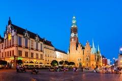Τετράγωνο αγοράς Wroclaw, Πολωνία Στοκ Φωτογραφία