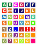 τετράγωνο αλφάβητου Στοκ Εικόνες