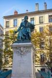 Τετράγωνο αμπέρ και το μνημείο στο αμπέρ Andre-Marie στοκ φωτογραφία με δικαίωμα ελεύθερης χρήσης