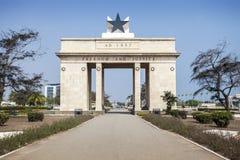 Τετράγωνο ανεξαρτησίας, Άκρα, Γκάνα στοκ εικόνα με δικαίωμα ελεύθερης χρήσης