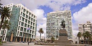 Τετράγωνο ανεξαρτησίας. Ουρουγουάη Στοκ Φωτογραφίες