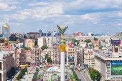 Τετράγωνο ανεξαρτησίας στο Κίεβο, Ουκρανία στοκ εικόνα με δικαίωμα ελεύθερης χρήσης