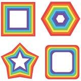 Τετράγωνο, αστέρι και άλλο ουράνιων τόξων - διανυσματικά γεωμετρικά στοιχεία colle Στοκ φωτογραφία με δικαίωμα ελεύθερης χρήσης