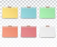Τετράγωνο αυτοκόλλητων ετικεττών χρώματος Στοκ φωτογραφία με δικαίωμα ελεύθερης χρήσης