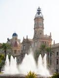 Τετράγωνο Δημαρχείων πόλεων της Βαλένθια Plaza del ayuntamiento Στοκ φωτογραφία με δικαίωμα ελεύθερης χρήσης