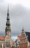 Τετράγωνο Δημαρχείων στη Ρήγα Λετονία στοκ εικόνες