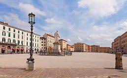 Τετράγωνο Δημοκρατίας σε Λιβόρνο, Τοσκάνη, Ιταλία Στοκ Φωτογραφία