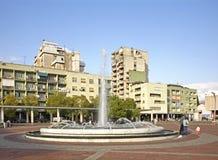 Τετράγωνο Δημοκρατίας σε Podgorica Στοκ Φωτογραφίες