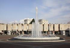 Τετράγωνο Δημοκρατίας σε Podgorica Στοκ Εικόνες
