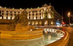 Τετράγωνο Δημοκρατίας στη Ρώμη, Ιταλία στοκ φωτογραφίες με δικαίωμα ελεύθερης χρήσης