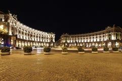 Τετράγωνο Δημοκρατίας στη Ρώμη, Ιταλία Στοκ Φωτογραφία