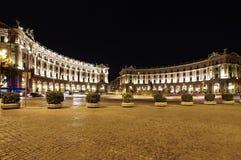 Τετράγωνο Δημοκρατίας στη Ρώμη, Ιταλία Στοκ εικόνες με δικαίωμα ελεύθερης χρήσης