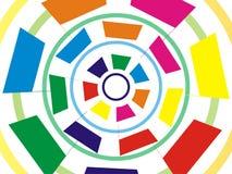 Τετράγωνο διάστασης και ταπετσαρία κύκλων Στοκ Εικόνες