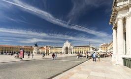 Τετράγωνο εμπορίου της Λισσαβώνας Στοκ Εικόνα