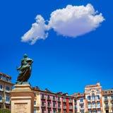 Τετράγωνο δημάρχου του Burgos Plaza στην Καστίλλη Ισπανία Στοκ Φωτογραφίες