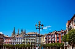 Τετράγωνο δημάρχου του Burgos Plaza στην Καστίλλη Ισπανία Στοκ φωτογραφίες με δικαίωμα ελεύθερης χρήσης