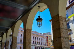 Τετράγωνο δημάρχου του Burgos Plaza στην Καστίλλη Ισπανία Στοκ εικόνα με δικαίωμα ελεύθερης χρήσης