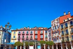 Τετράγωνο δημάρχου του Burgos Plaza στην Καστίλλη Leon Ισπανία Στοκ φωτογραφία με δικαίωμα ελεύθερης χρήσης