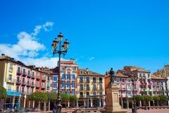 Τετράγωνο δημάρχου του Burgos Plaza στην Καστίλλη Leon Ισπανία Στοκ εικόνα με δικαίωμα ελεύθερης χρήσης