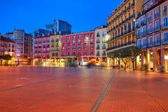 Τετράγωνο δημάρχου του Burgos Plaza στο ηλιοβασίλεμα στην Ισπανία Στοκ Εικόνες