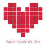 Τετράγωνο ημέρας βαλεντίνων στη διανυσματική εικόνα καρδιών Στοκ Φωτογραφίες