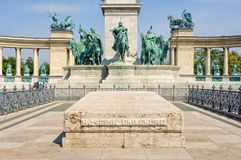Τετράγωνο ηρώων ` - Βουδαπέστη Στοκ φωτογραφία με δικαίωμα ελεύθερης χρήσης