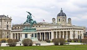 Τετράγωνο ηρώων στη Βιέννη στοκ φωτογραφία με δικαίωμα ελεύθερης χρήσης