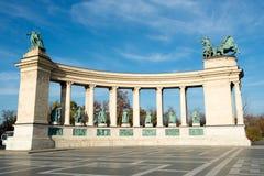 τετράγωνο ηρώων της Βουδαπέστης Στοκ Φωτογραφία